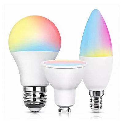 Smart Phone Controlled Tuya Good Quality New Version E14 Colorful Wifi Smart Candle Light Bulb